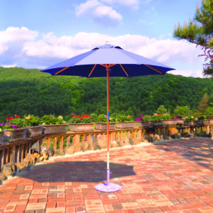 7.5ft Wood Market Umbrellas