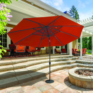 Oval Aluminum Market Umbrella