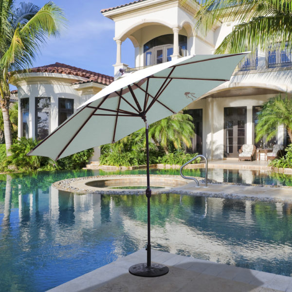 11ft Market Umbrella with Sunbrella Canvas
